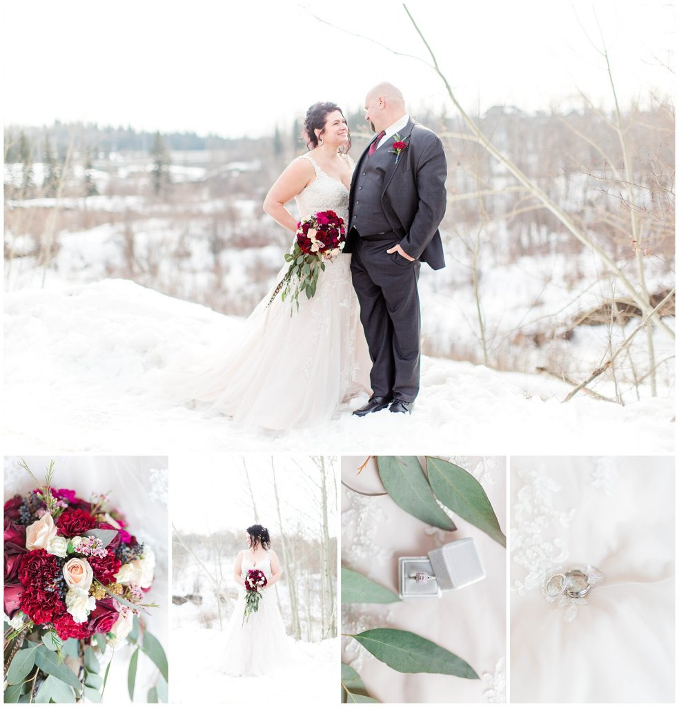 kayla lynn photography beautiful winter wedding with coup in grande prairie with kayla lynn photography