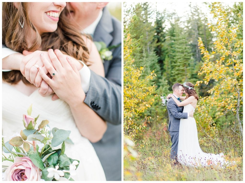 kayla lynn photography grande prairie wedding photographer captured kevin and taylor on special day in fall yellow colorful trees
