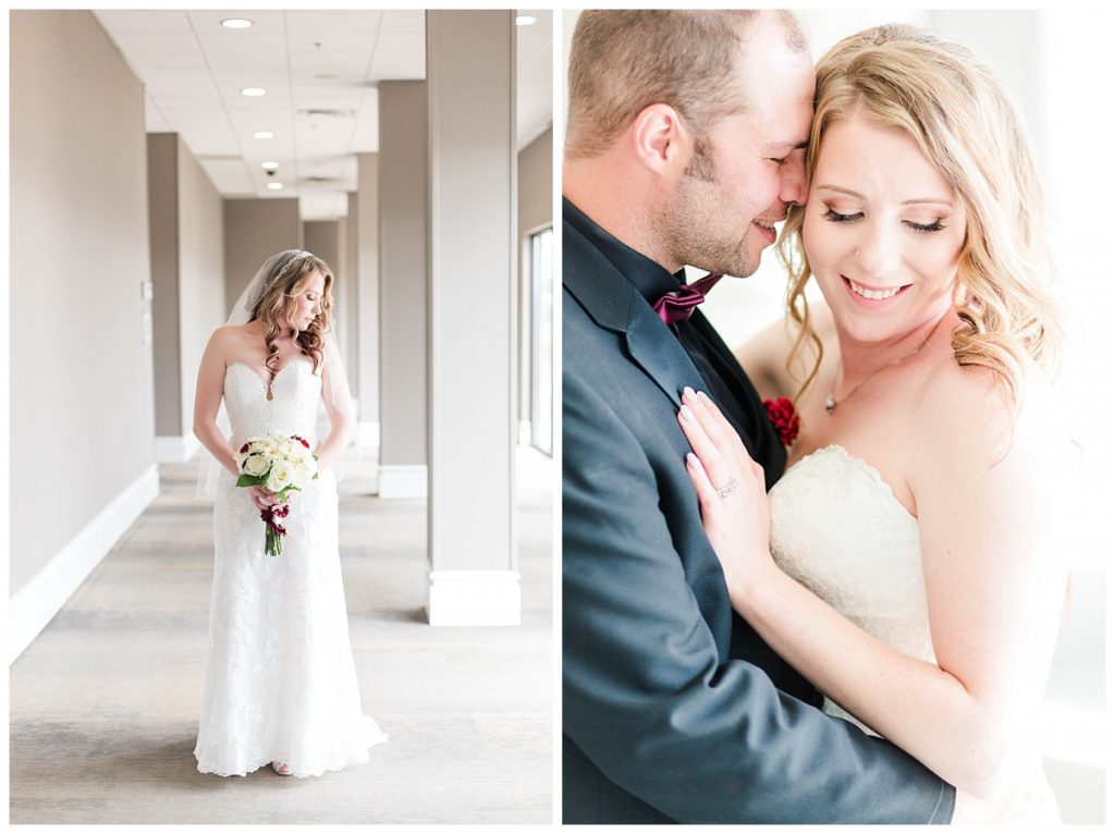 bride and groom photos with grande prairie wedding photographer at the pomeroy hotel