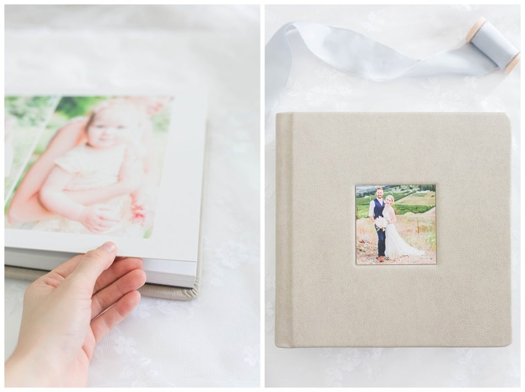 flipping through the colorful thick photo pages of kayla lynn photography photo album fine art