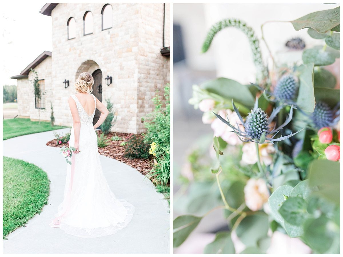 bride dress phtoos with flowers fro the enchanting bouquet blue thistle