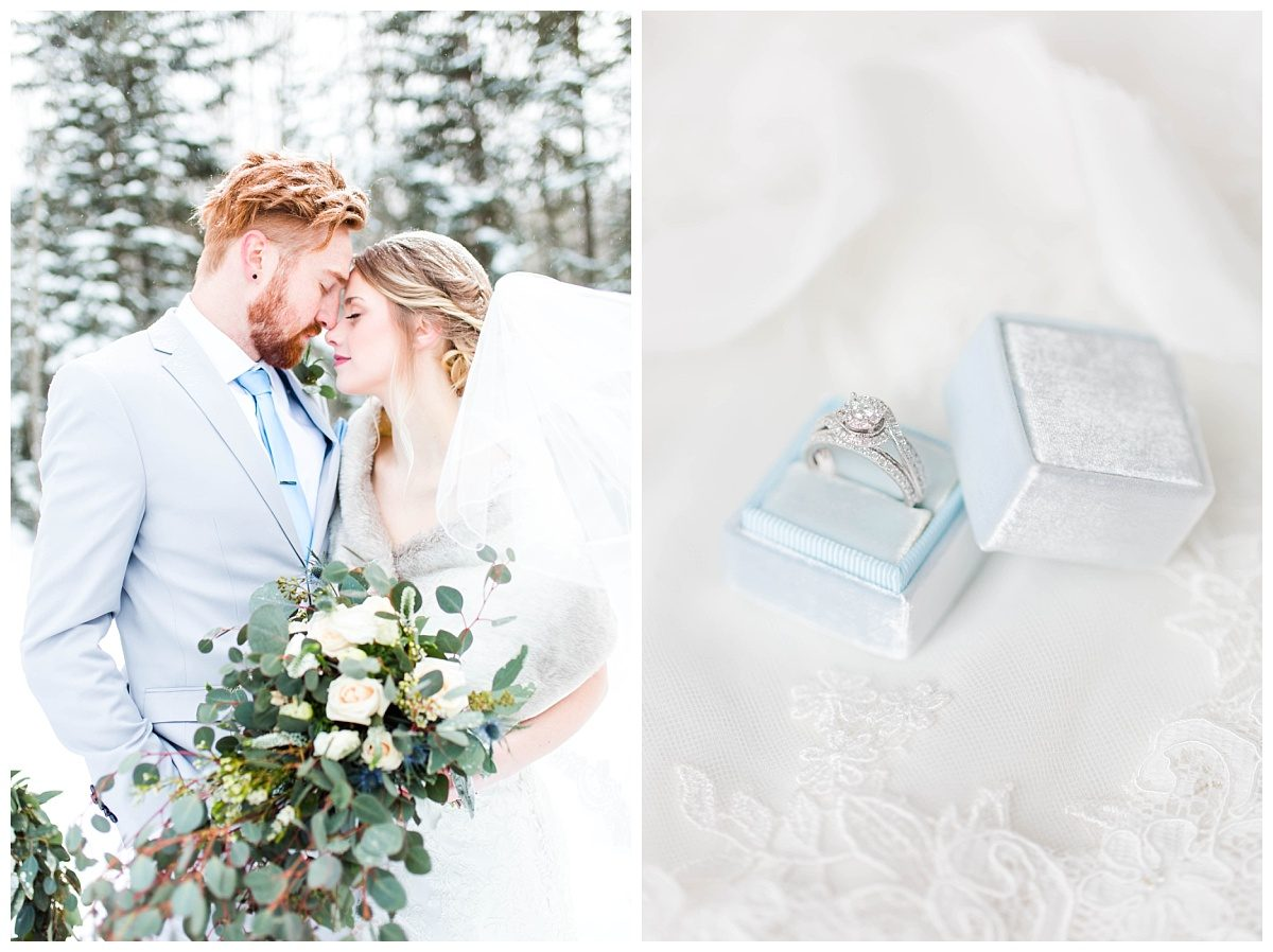 mrs pretty light blue box grande prairie winter wedding with changing dreams to reality