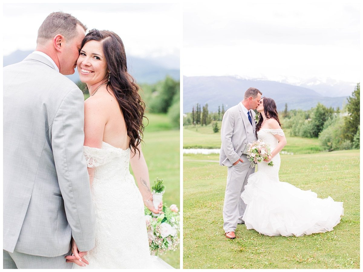 amanda and corwin for their wedding photos at grande cache wedding venue golf and country club