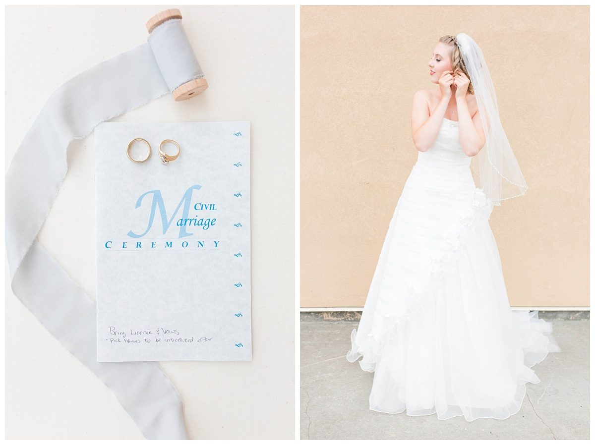 wedding dress vow book details