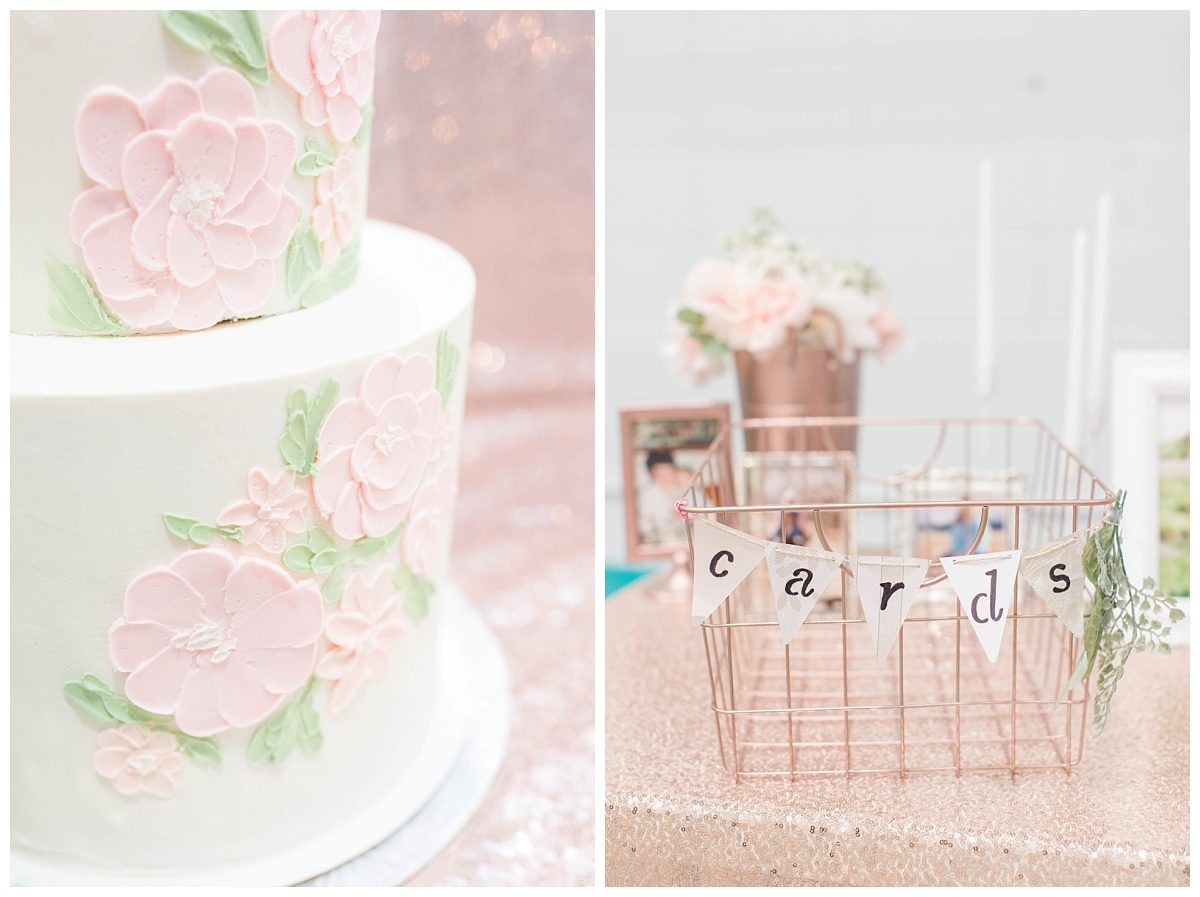 floral cake in grande cache made by caked by krysal and wedding card basket
