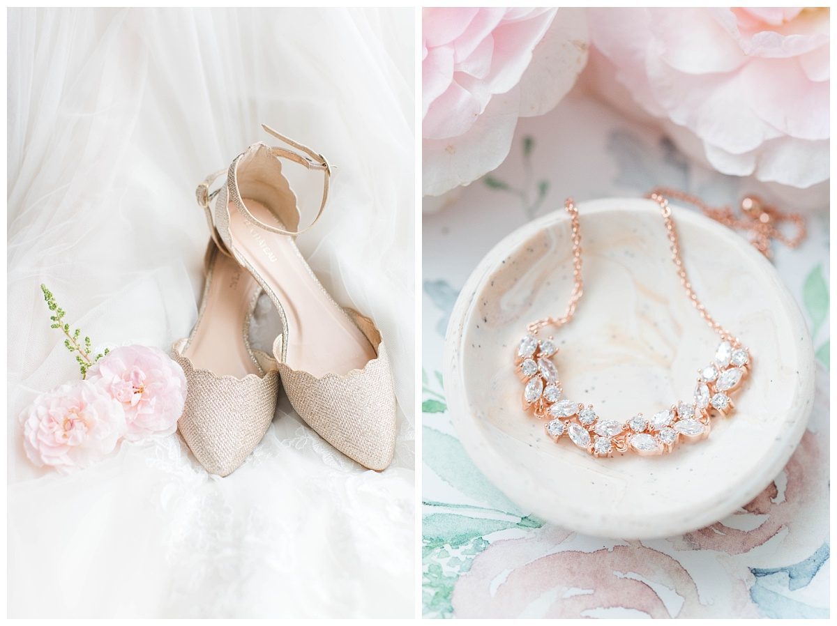 bridal details in grande cache lots of pastel ring dish with rose gold bracelet and shoes with flowers