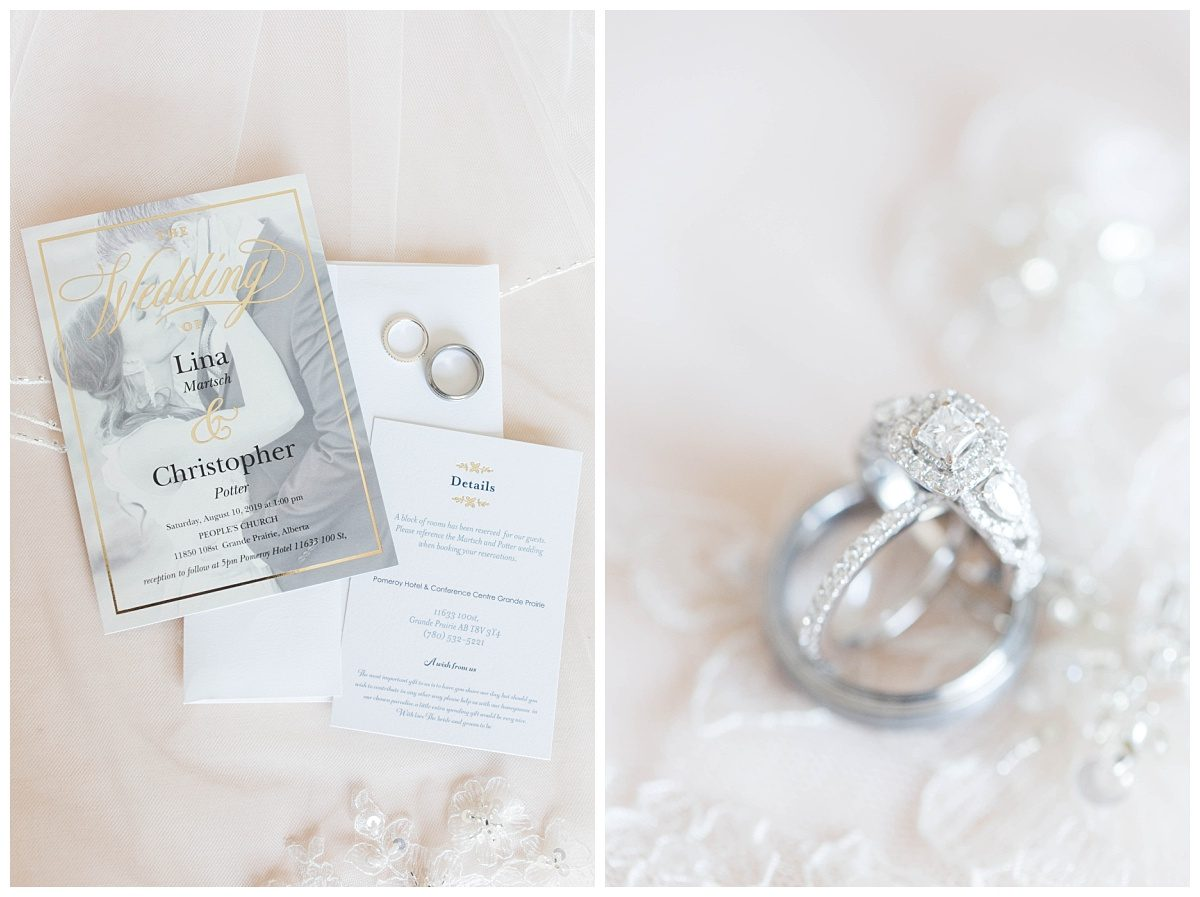 bridal details rings and the invitation suite photography by kayla lynn