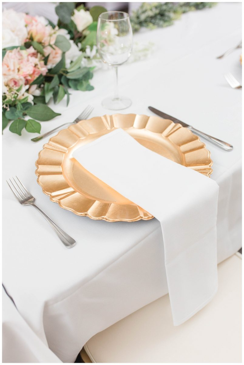 changing dream to reality wedding planner gold plates details
