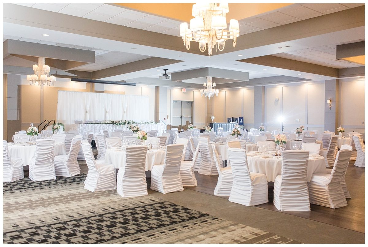pomeroy hotel wedding venue in grande prairie kayla lynn photographer reception setup