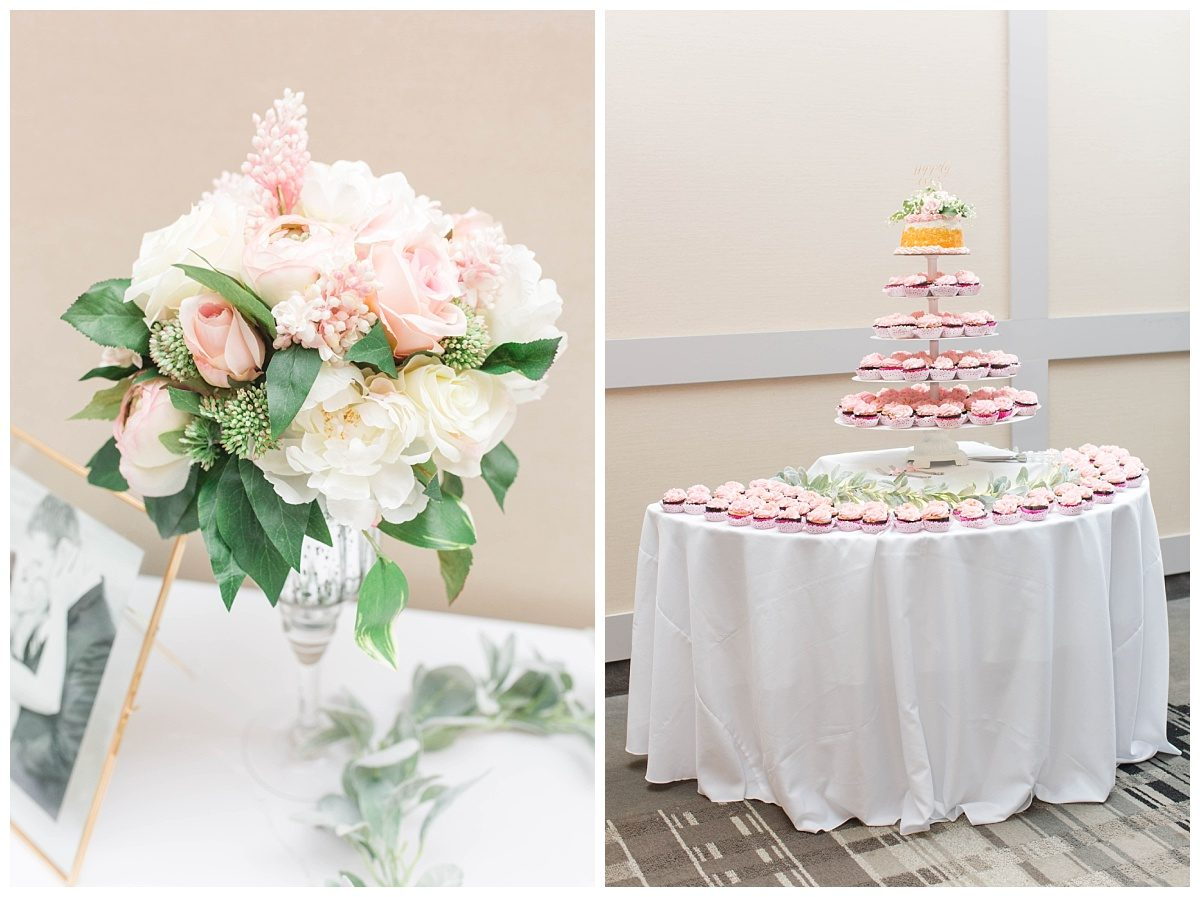 pomeroy hotel cupcake blush romantic wedding grande prairie