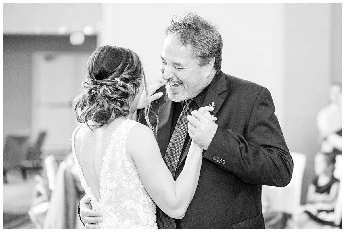 father daughter dance in grande prairie black and white