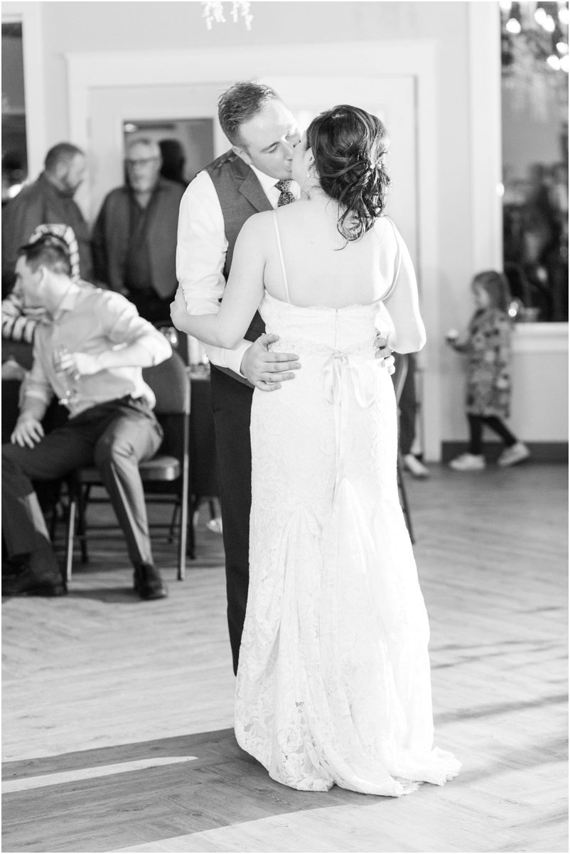 first dance with braden and breanna at the bear creek wedding venue in grande prairie