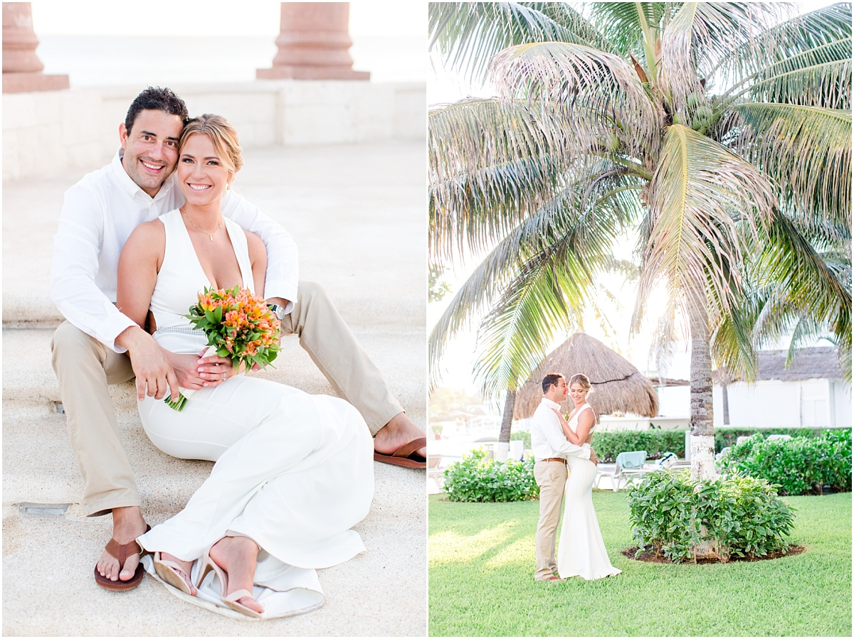 mexico wedding in cancun with destination wedding photographer from alberta