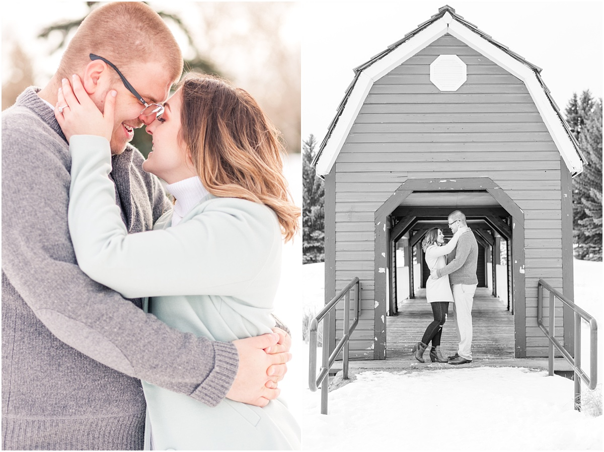 beautiful engagement photos at the woodbridge in edmonton with jillian and zack barn