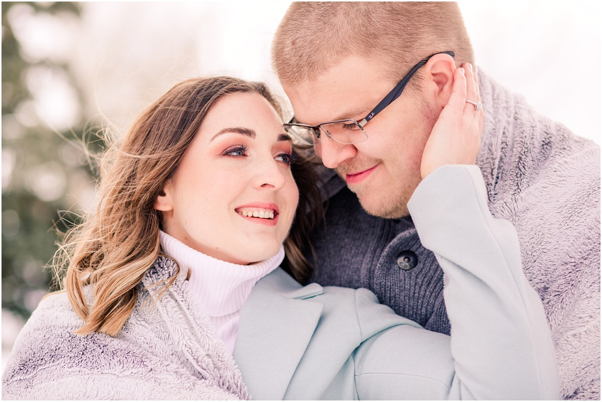 grande prairie and edmonton photographer captures engagement and weddings photos for jillian and zack in the winter