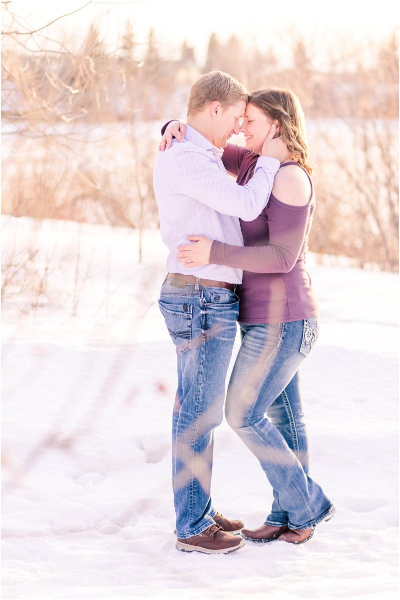 romantic photo of couple wearing casual clothing far away shot