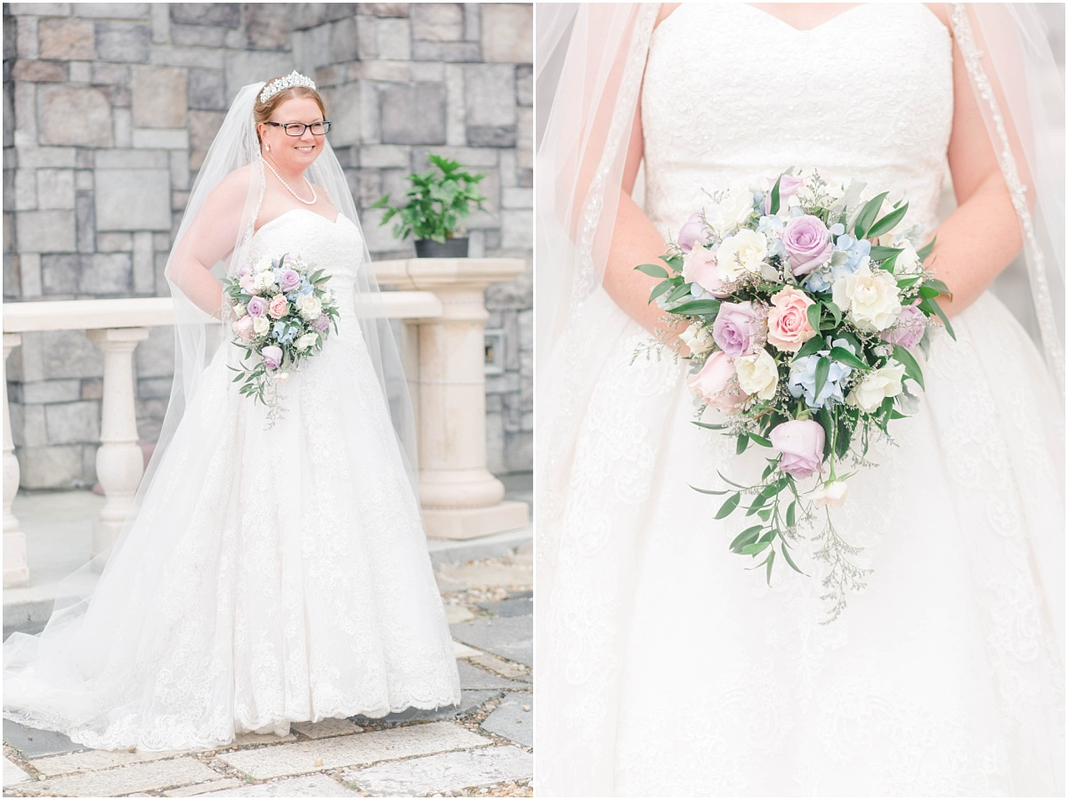 bridal portraits for wedding at ryans castle bnb in edmonton holly with florals