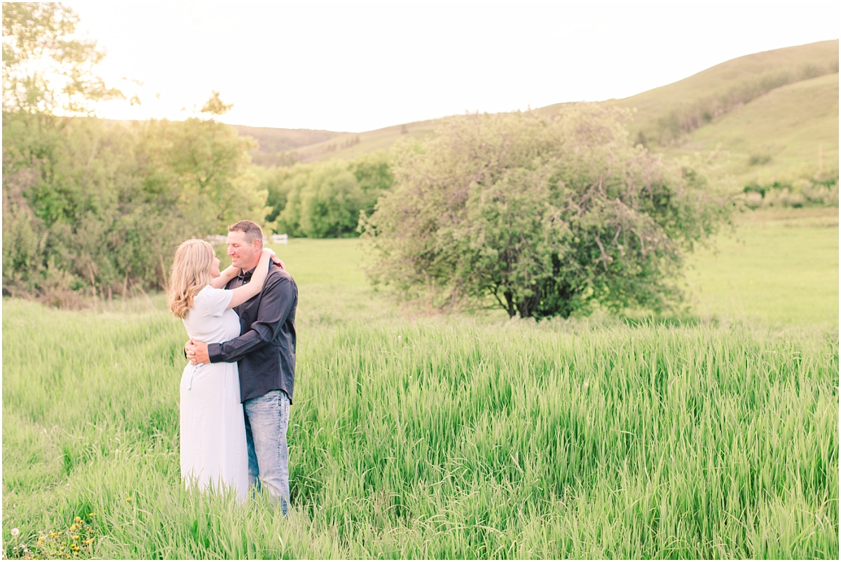 dunvegan engagement wedding in the summer landscape photo shoot