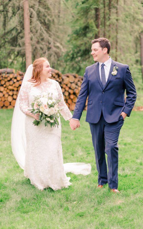 Gerad & Kailey | Elegant Backyard Wedding | Alberta Wedding Photographer