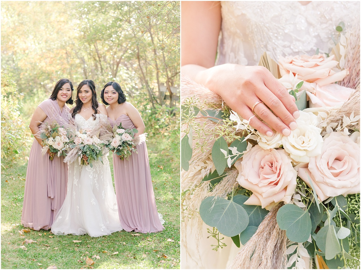 wedding rings jerrica wedding bridal party at the grande prairie wedding venue fall creamy wedding colors pastels