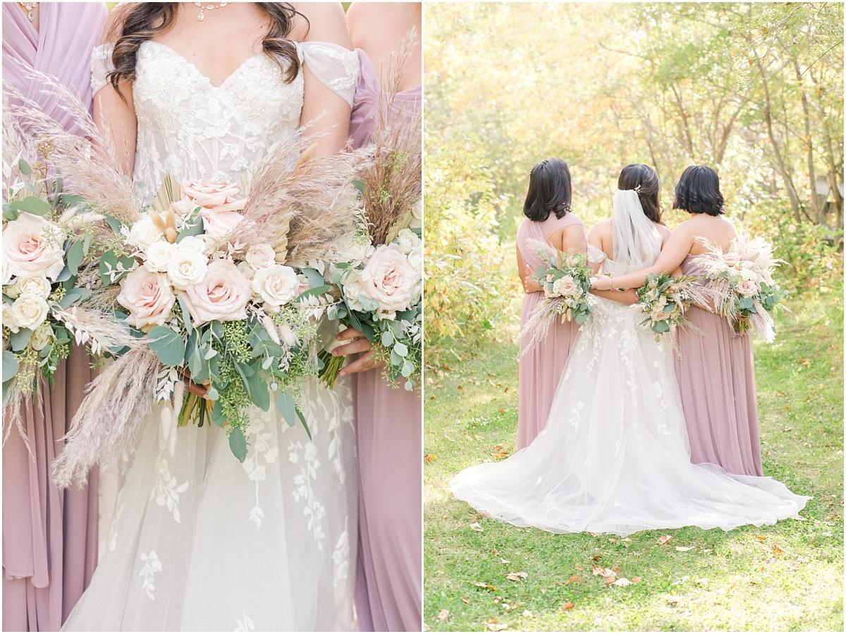 stunning beautiful wedding bouquet with pampas grass made by the little petal co spirit river