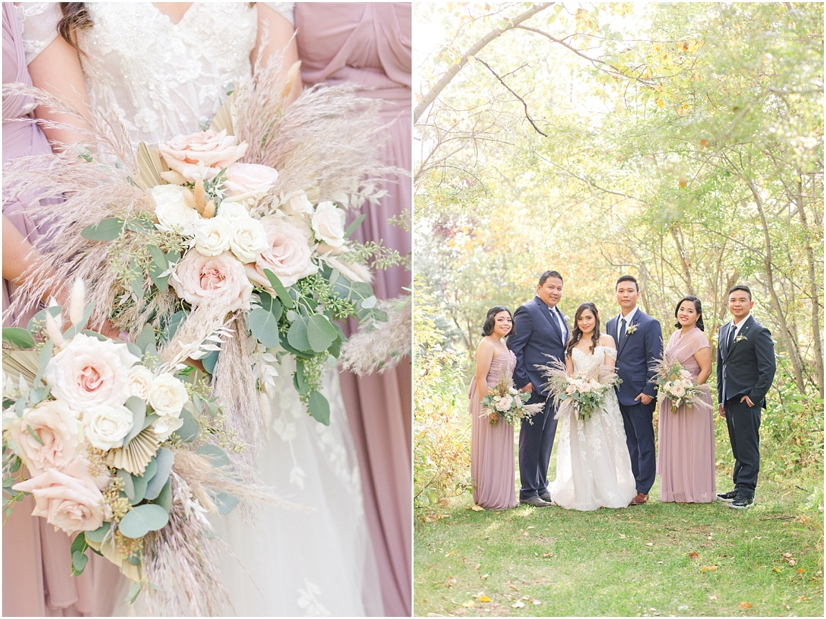 bridal party and bouquet by little petal co for the wedding photos
