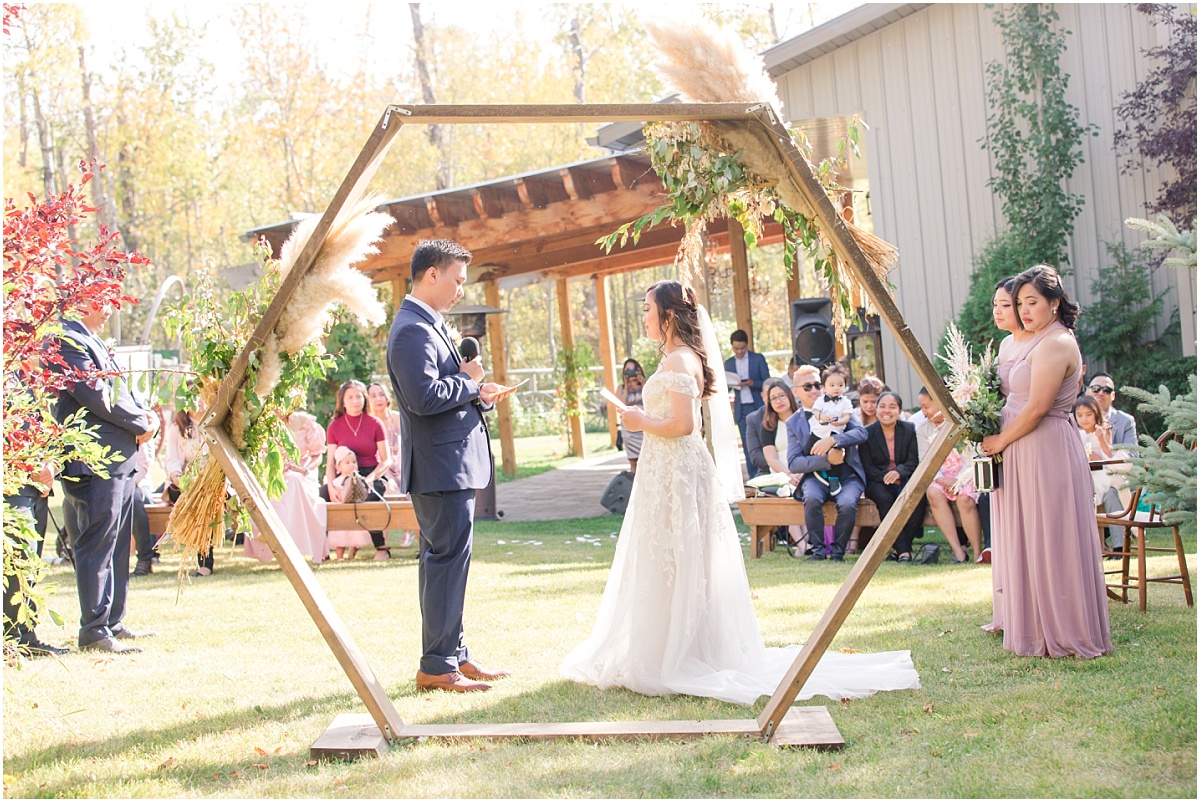 small wedding philipino venue millwood country inn in grande prairie albtera for their ceremony