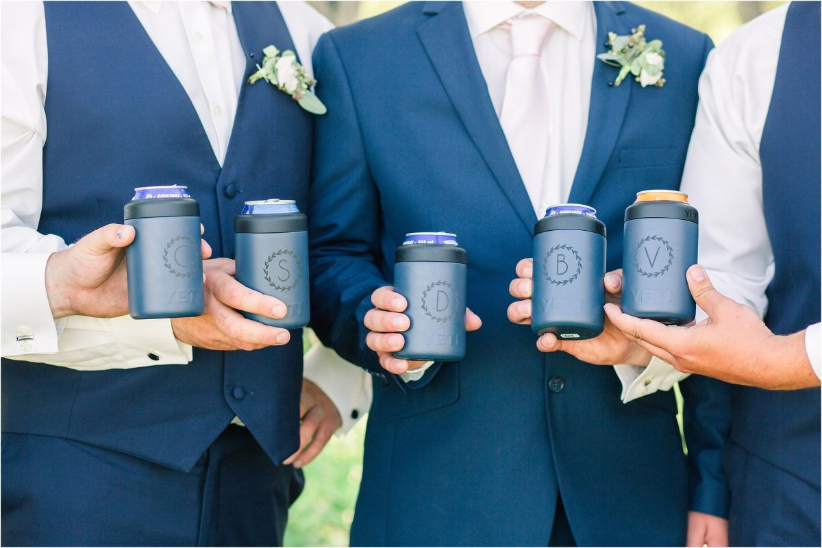 yeti cups cool beer in the color blue with made by circuit
