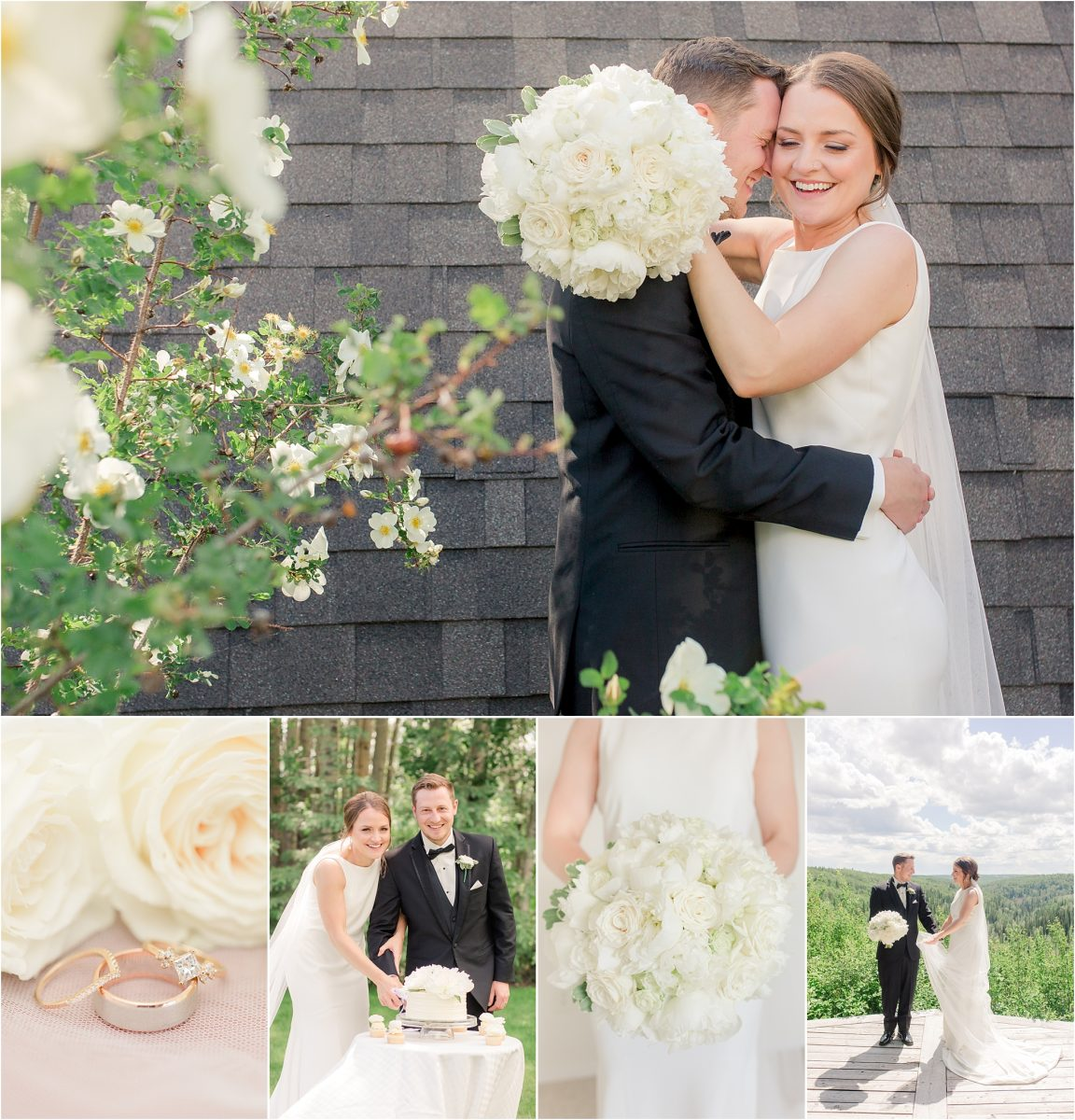 intimate micro wedding at serenity acres in grande prairie at gorgeous outdoor venue with lookout view shailenes and brodies wedding day