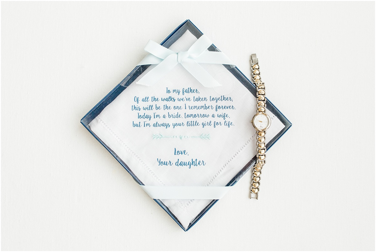 father gift from the bride wedding date with watch from grandma special detail photos