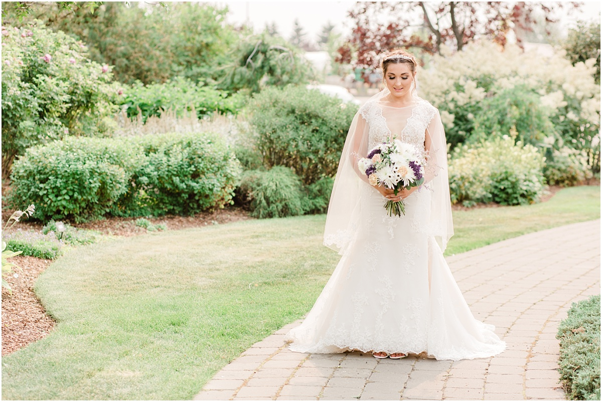 bridal photos at the sheerwood park garden center with jillian
