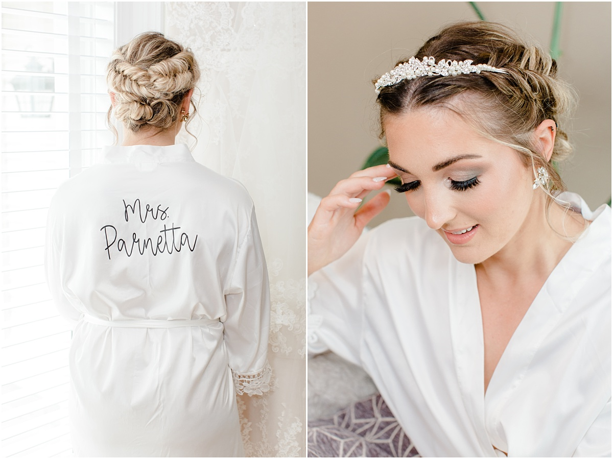 etsy custom robe for jillian the bride very elegant light and airy wedding and getting ready hair and makeup