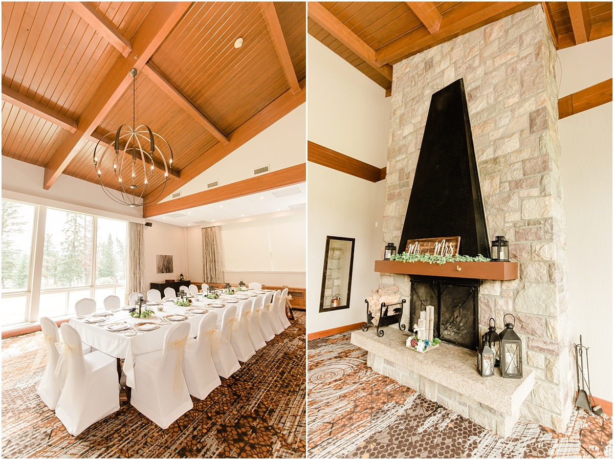 reception details at the jasper fairmont for a mirco intimate wedding with few guests detail photos